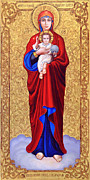 Virgin Mary Paintings - Valaam icon of the Blessed Virgin Mary by Oksana Nabok