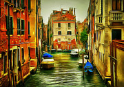 Gondolier Framed Prints - Venice Canals 2 Framed Print by Yury Malkov