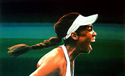 Serena Williams Framed Prints - Venus Williams Framed Print by Paul Meijering