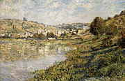 Banks Framed Prints - Vetheuil Framed Print by Claude Monet