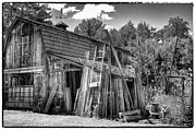Monotone Prints - Vics Barn II Print by David Patterson