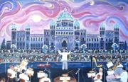 Victoria Painting Originals - Victoria Symphony Splash by Virginia Ann Hemingson
