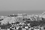 Parthenon Photos - View of Acropolis from Lykabettus hill by George Atsametakis