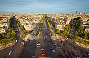 Champs Elysees Framed Prints - View over Champs Elysees Framed Print by Brian Jannsen