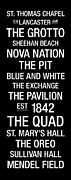 Blue And White Posters - Villanova College Town Wall Art Poster by Replay Photos
