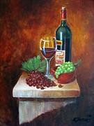 Vino Framed Prints - Vino Tinto Framed Print by Edgar Torres