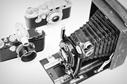 Aperture Prints - Vintage Cameras Print by Chevy Fleet