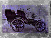 Old Digital Art Prints - Vintage Car Print by David Ridley