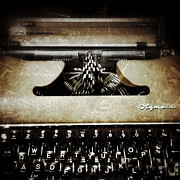 Typewriter Digital Art - Vintage Olympia Typewriter by Natasha Marco