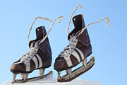 Antique Skates Posters - Vintage Pair Of Mens  Skates  Poster by Mikhail Olykaynen