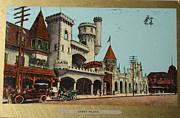Patricia Hofmeester - Vintage postcard of Coney Island in New York