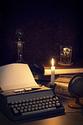 Glow Art - Vintage Typewriter by Christopher and Amanda Elwell