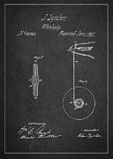 Vintage Yoyo Patent Drawing From 1867 Print by Aged Pixel