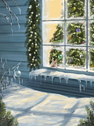 Christmas Art - Waiting... by Veronica Minozzi