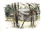 Gatlinburg Originals - Walker Sisters Farm House by Bob  George