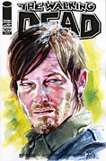 Walking Dead Posters - Walking Dead Daryl Poster by Ken Meyer jr