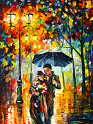 Warm Night Print by Leonid Afremov