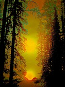 Dark Brown Posters - Warming Sunrise Poster by Shirley Sirois