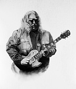 Warren Haynes Posters - Warren Haynes Poster by William Walts