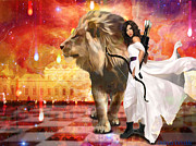 Lion Of Judah Posters - Warrior Bride Poster by Dolores DeVelde