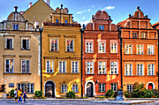 Old Town Digital Art Acrylic Prints - Warsaw Old Town Kanonia Street HDR Acrylic Print by Izabela Kaminska