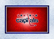 Puck Framed Prints - Washington Capitals Framed Print by Joe Hamilton
