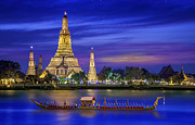 New Year Posters - Wat arun Poster by Anek Suwannaphoom