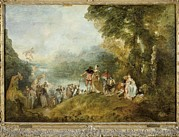 Sports Lover Framed Prints - Watteau, Jean-antoine 1684-1721 Framed Print by Everett