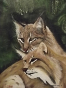 Wildcats Painting Framed Prints - We See You Framed Print by Frank Loria