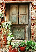 Entryway Prints - Weathered Door Print by Allen Beatty