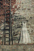 Coat Hanger Metal Prints - Wedding Dress Metal Print by Joana Kruse