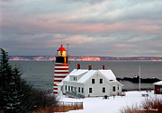 West Quoddy Head Lighthouse Print by Alana Ranney