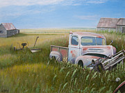 Old Barns Paintings - Western memorials  by Al Hunter