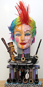 Animal Sculpture Sculpture Originals - What The Hell Was She Smoking by Keri Joy Colestock