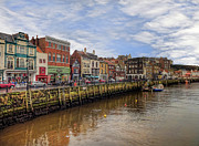 John Adams Prints - Whitby Harbour Print by John Adams