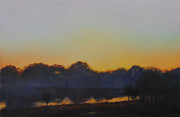 Moody Paintings - White Rock Lake Dusk by Cap Pannell