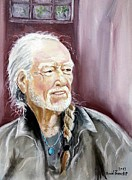 Willie Nelson Painting Originals - Willie Nelson by David Francke