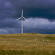 Wind Turbine Photos - Wind turbine  by Bernard Jaubert