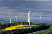 Propulsion Photos - Wind turbines by Bernard Jaubert