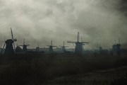 Old Mills Photos - Windmills by Joana Kruse