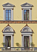 Lace Curtains Prints - Windows of Tuscany Print by David Letts