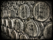 Wine Barrels Print by Deborah Knolle