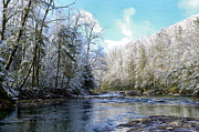 Rushing Prints - Winter along Williams River Print by Thomas R Fletcher