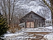 Shed Digital Art - Winter At The Farm by Tricia Marchlik