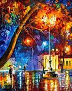 Winter Rain Print by Leonid Afremov