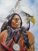 Lance James - Wolf robe and eagle