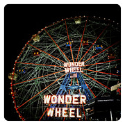 Coney Island Digital Art Prints - Wonder Wheel Print by Natasha Marco