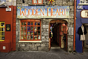 Shop Front Prints - Wooden Heart store in Galway Print by Ruben Vicente