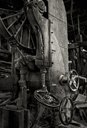 Machine Framed Prints - Wooden Sawmill Framed Print by Setsiri Silapasuwanchai