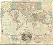 World Map Print by Gary Grayson